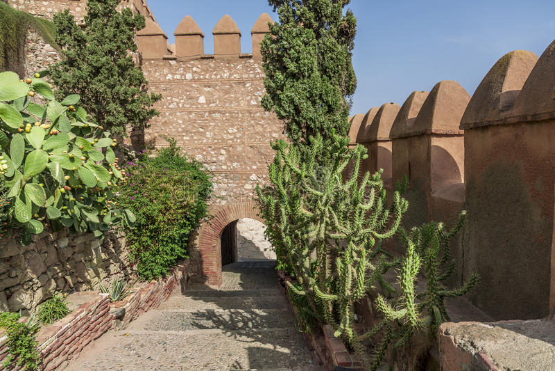 Download Abflug vom La Alcazaba stockfoto. Bild von festung, aufsatz - 26372478
