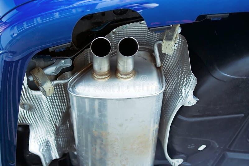 Abgasanlageabblasdämpfer stockfotos