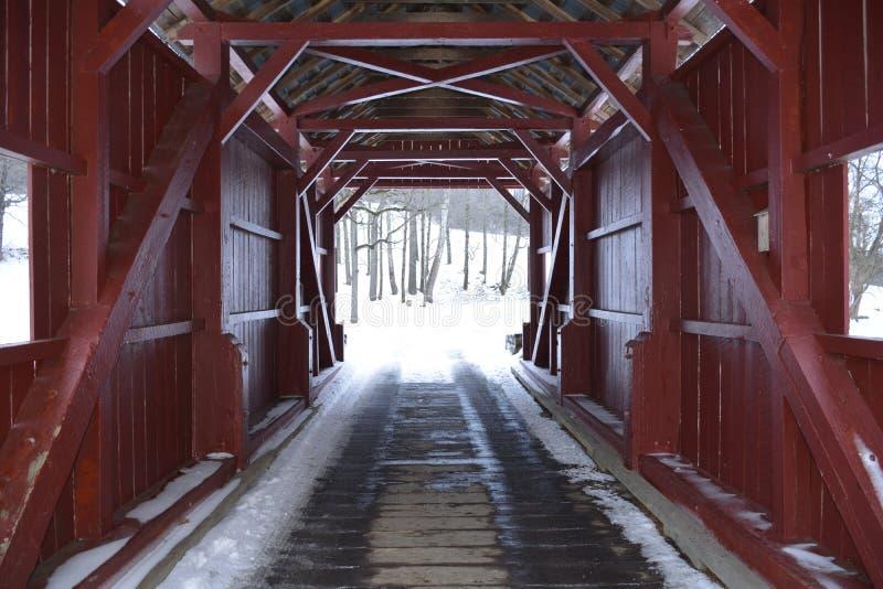 Abgedeckte Brücke lizenzfreies stockbild