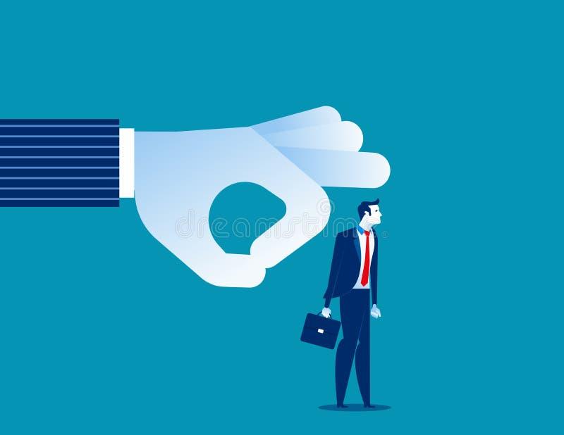 abgefeuert Manager, der Geschäftsmann weg vom Team schlägt Konzeptgesch?fts-Vektorillustration vektor abbildung