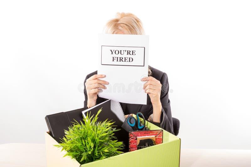 Abgefeuert vom Job stockfotos