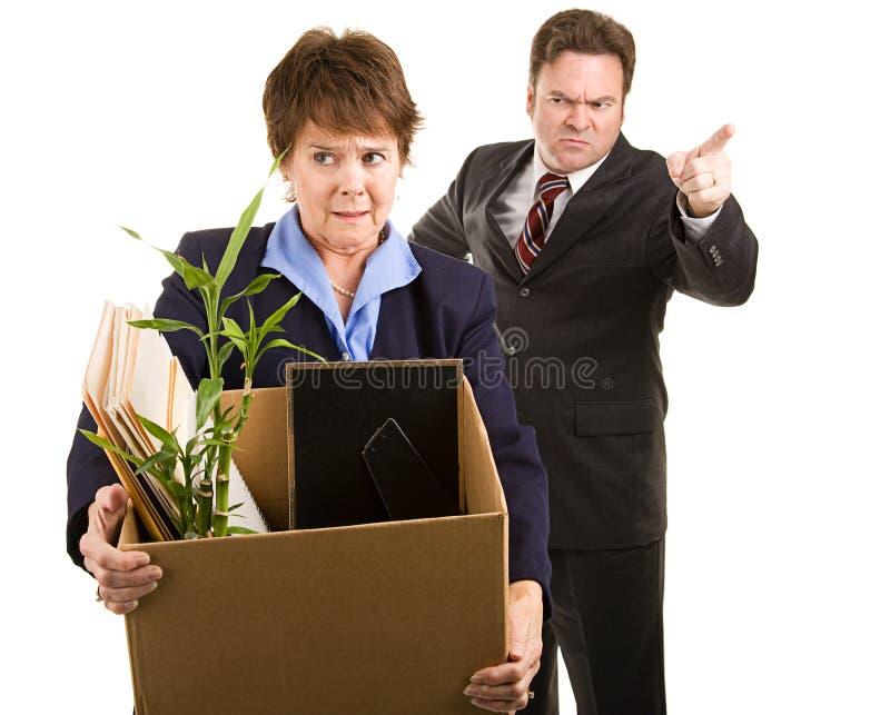 Abgefeuert vom Job stockfotografie