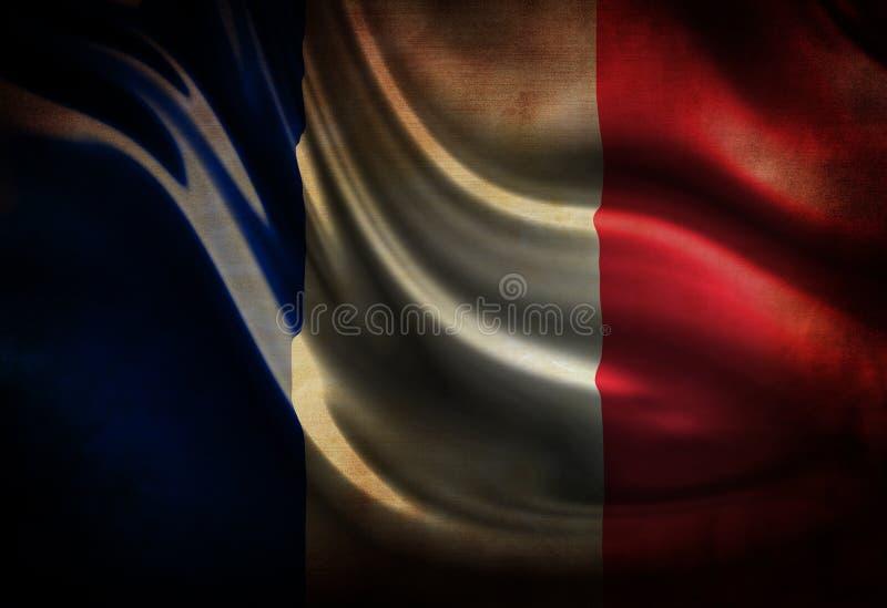 Abgenutzte französische Flagge vektor abbildung
