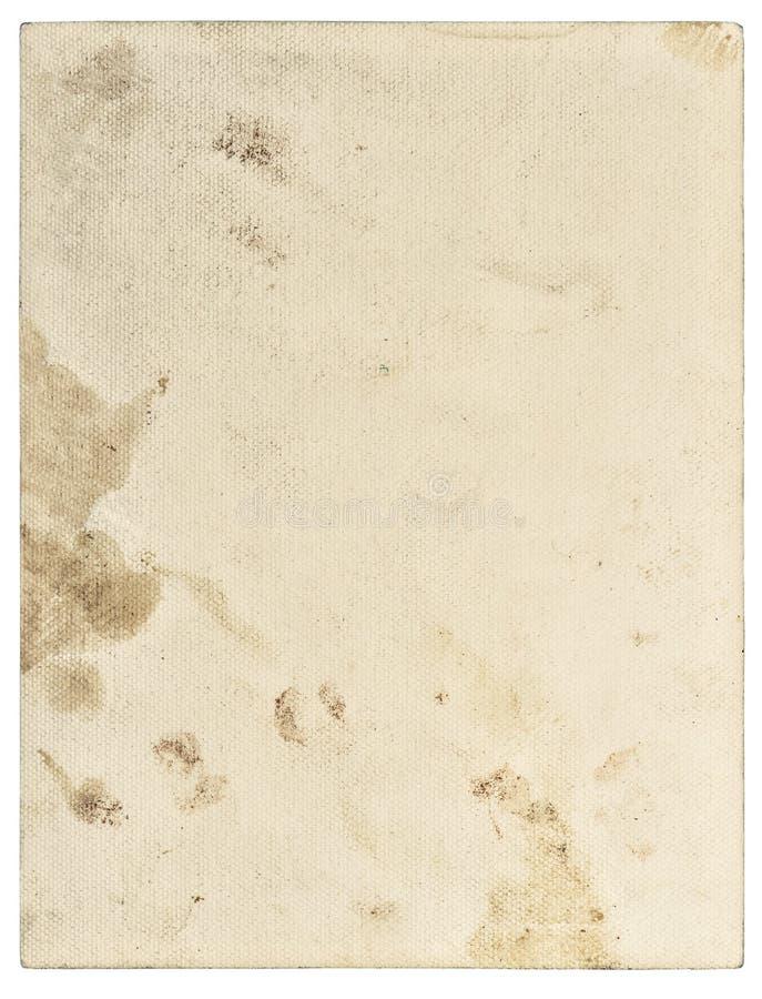 Abgenutzte gealterte befleckte Papierbeschaffenheitsnahaufnahme stockfoto