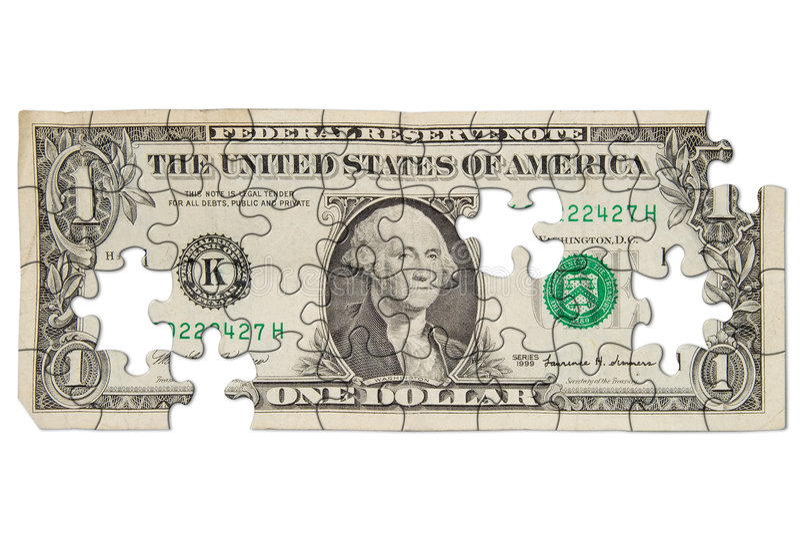 Abgenutzter Dollarschein lizenzfreie stockfotografie