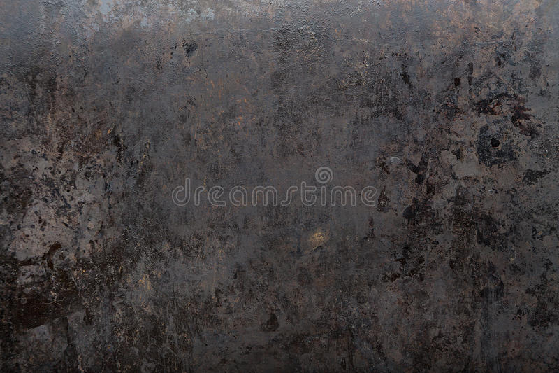 Abgenutzter schwarzer Metallhintergrund stockfoto