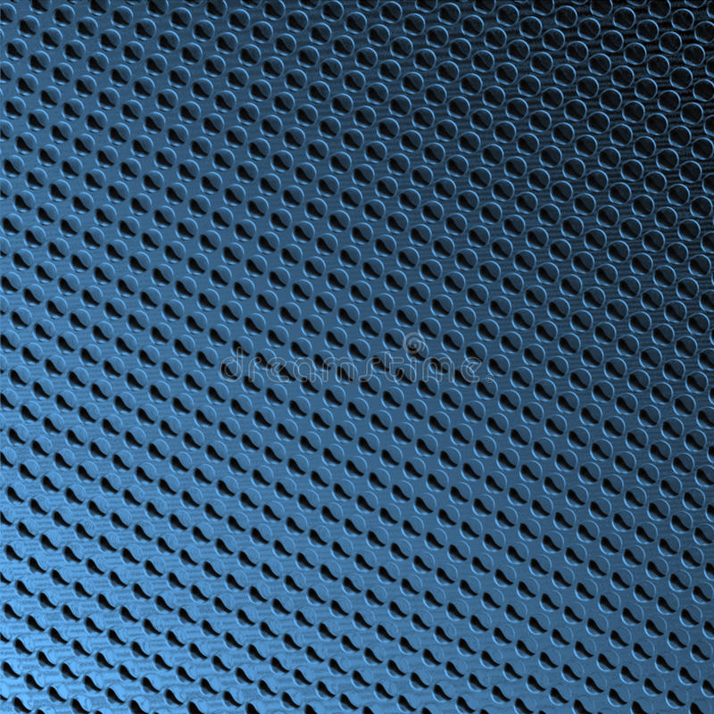 Abgeschrägte Punkte auf Blau lizenzfreie abbildung