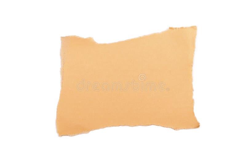 Abgetrenntes Blatt Papier auf einem weißen Hintergrund stockbild