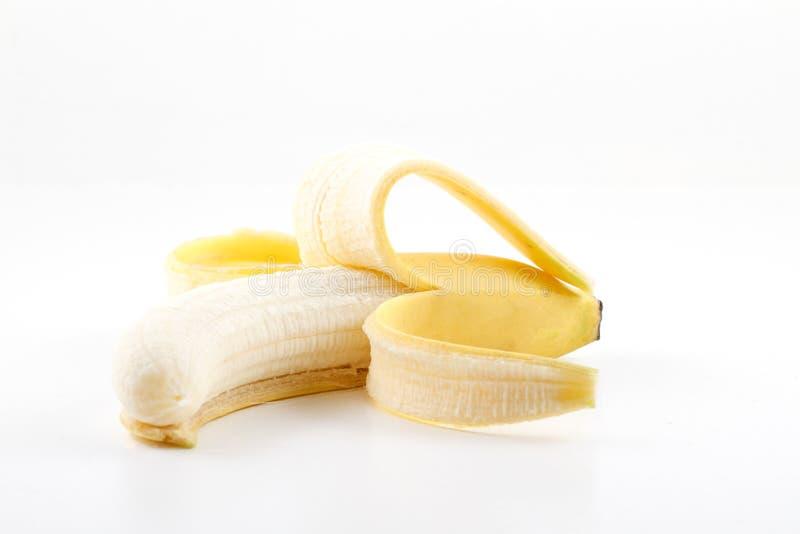 Abgezogene Banane stockbild