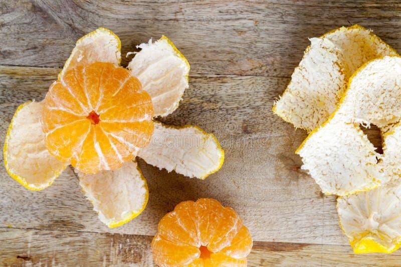 Abgezogene Mandarine stockbild