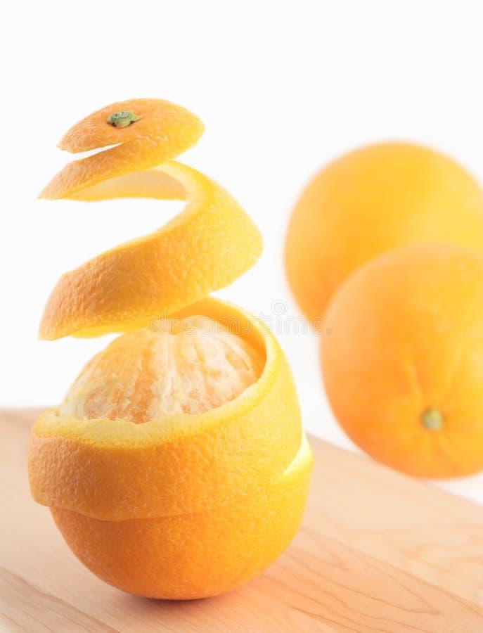Abgezogene Orange stockbild