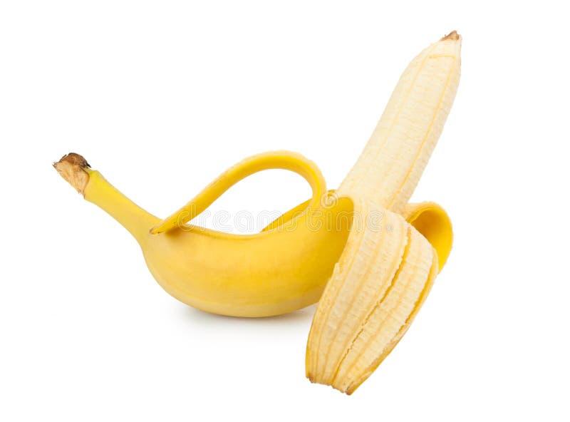 Abgezogener Banan lizenzfreie stockbilder