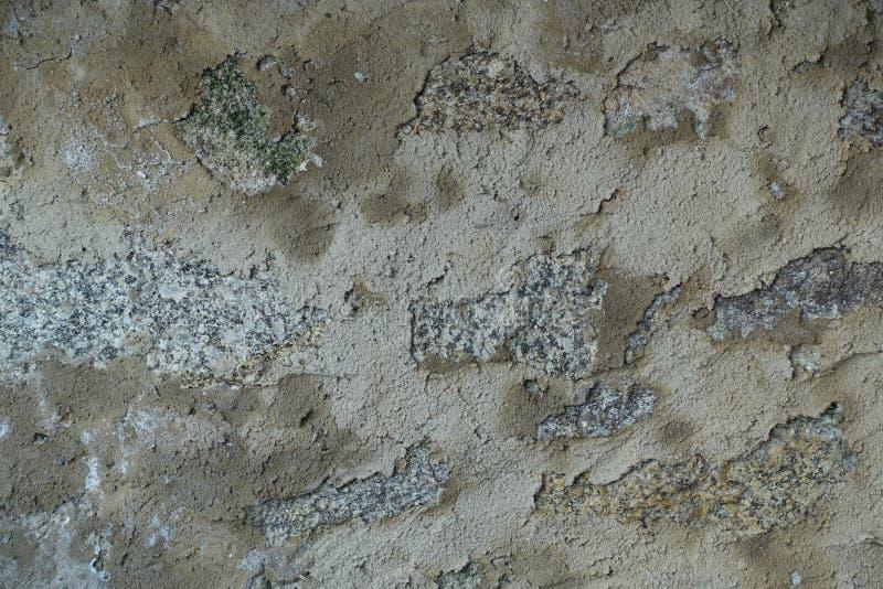 Abgezogener gebrochener Gips-Wand-Hintergrund stockfotografie