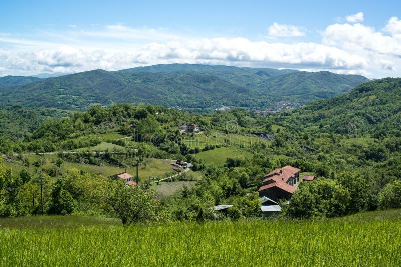 Abhang-Dorf in Ligurien, Italien lizenzfreie stockfotos