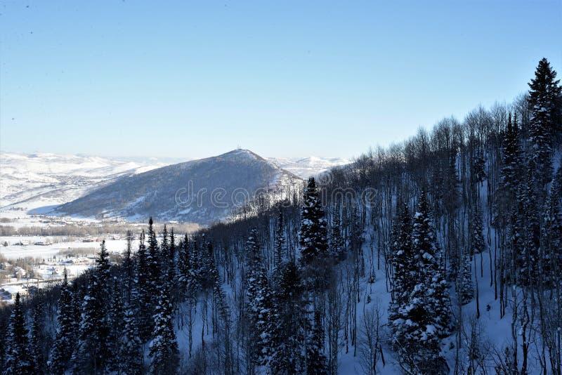Abhang im Winter - Utah stockbild