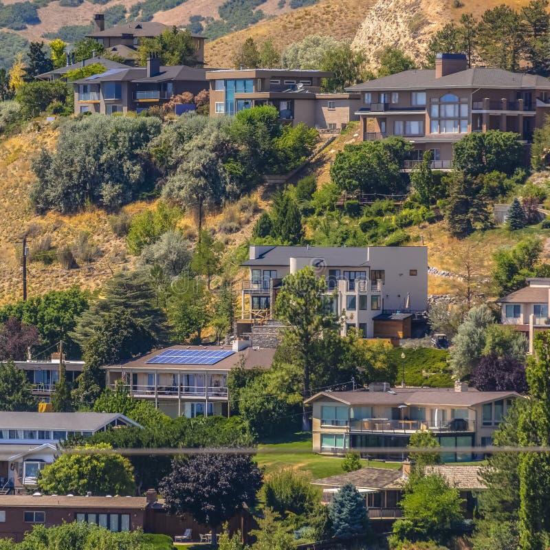 Abhanghäuser in Salt Lake City Utah stockfoto