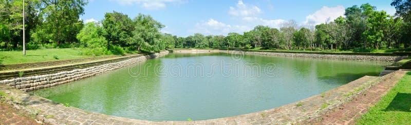 abhayagiri巨人池塘 免版税图库摄影