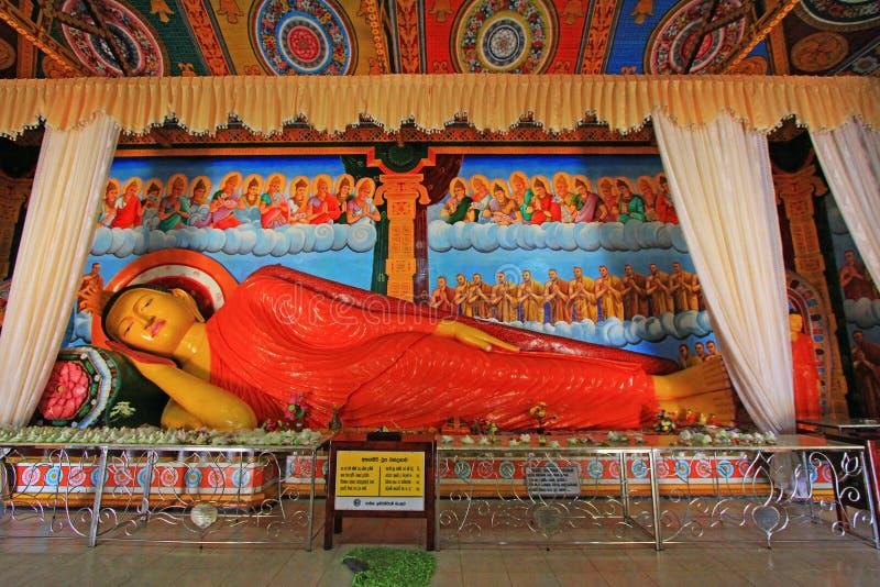 Abhayagiri Dagoba ` s睡觉的菩萨,斯里兰卡联合国科教文组织世界遗产名录 库存图片