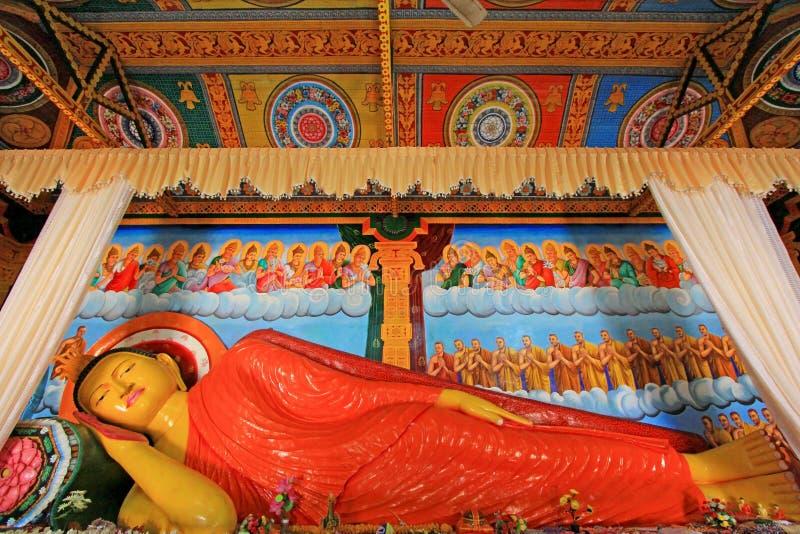 Abhayagiri Dagoba ` s睡觉的菩萨,斯里兰卡联合国科教文组织世界遗产名录 免版税图库摄影