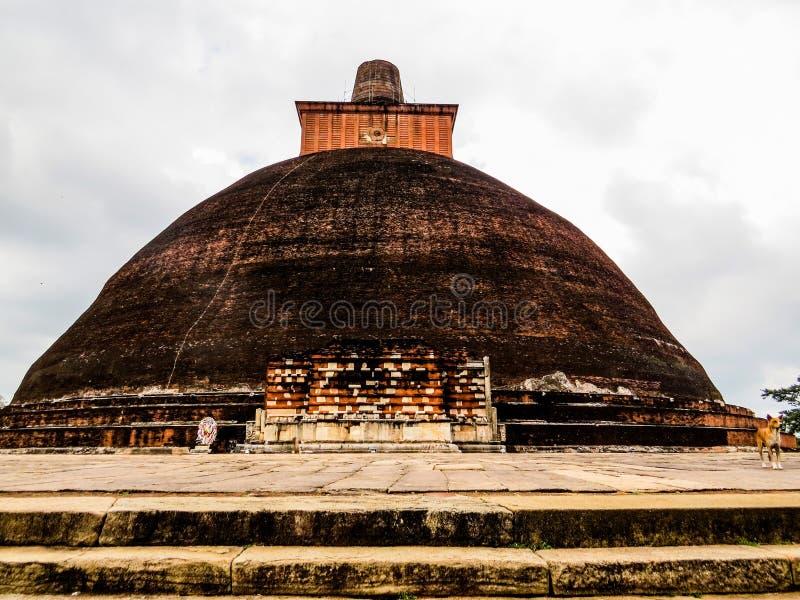 Jetavanaramaya stupa in Anuradhapura, Sri Lanka stock photos