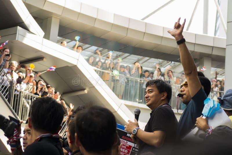 Download Abhisit Vejjajiva Addressing The Crowd Editorial Photo - Image: 35612291
