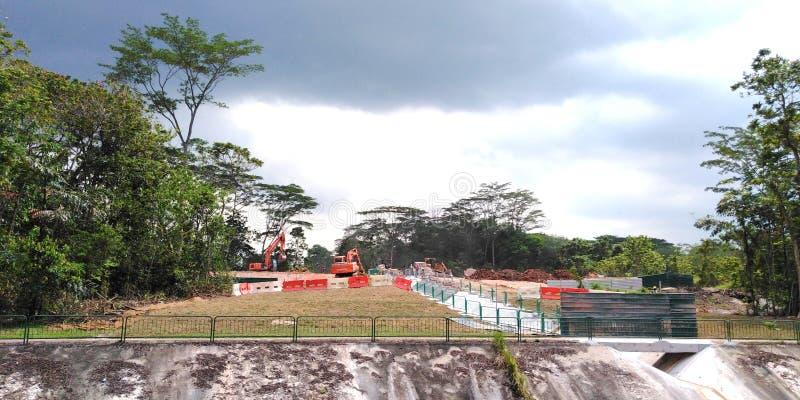 Abholzung in Singapur lizenzfreies stockfoto