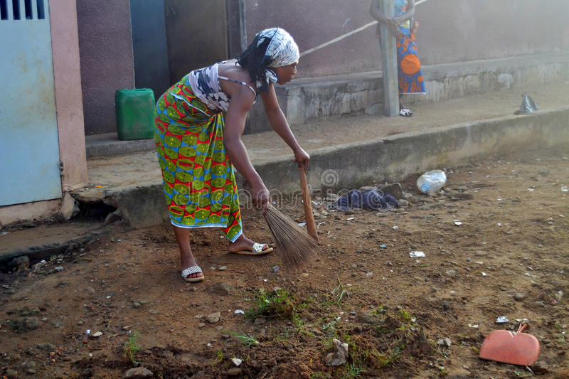ABIDJAN CITY CLEAN. Operation Abidjan, a clean town initiated by the Ivorian government, which aims to restore the Ivorian economic capital to a state of royalty free stock image
