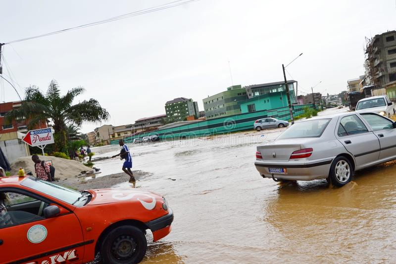 Abidjan floods / Emergency meeting at Cocody town hall yesterday: Mayor`s plea. Emergency meeting yesterday at the town hall of Cocody, following the recent royalty free stock images