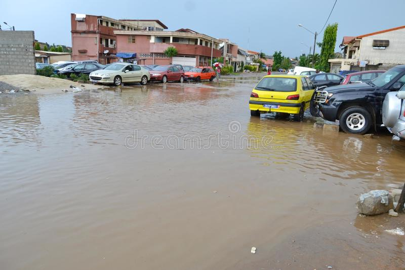 Abidjan floods / Emergency meeting at Cocody town hall yesterday: Mayor`s plea. Emergency meeting yesterday at the town hall of Cocody, following the recent royalty free stock photo