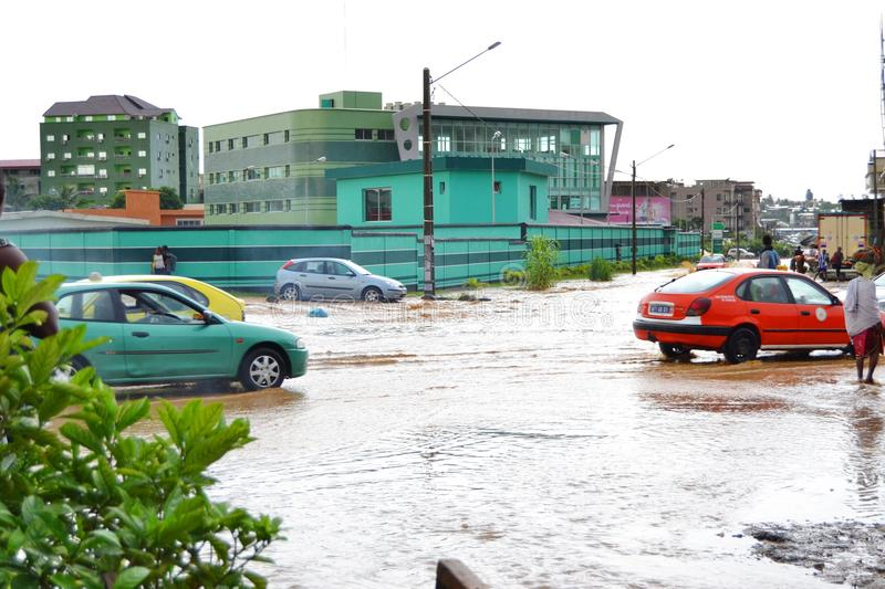 Abidjan floods / Emergency meeting at Cocody town hall yesterday: Mayor`s plea. Emergency meeting yesterday at the town hall of Cocody, following the recent stock photo
