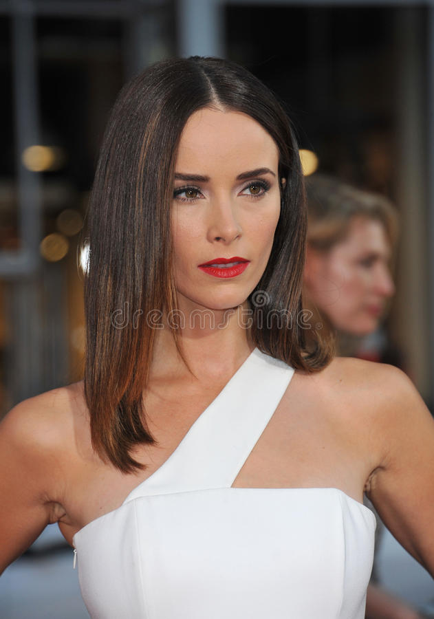 Abigail Spencer. LOS ANGELES, CA - SEPTEMBER 15, 2014: Abigail Spencer at the Los Angeles premiere of her movie This Is Where I Leave You at the TCL Chinese stock image