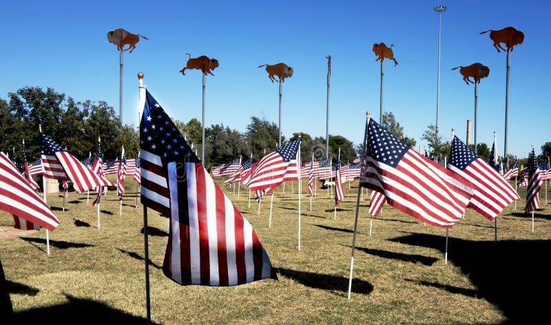 Abilene, TX usa - Listopad 9, 2014: Abilene Teksas miasto działał gościa centrum, patriotycznego zdjęcie royalty free