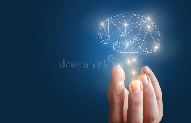 Ability of the mind. stock images