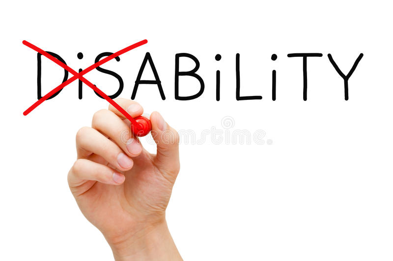 Ability Not Disability royalty free stock images