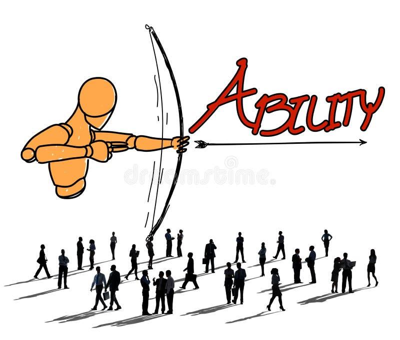 Ability Talent Strength Archery Aim Concept.  stock illustration