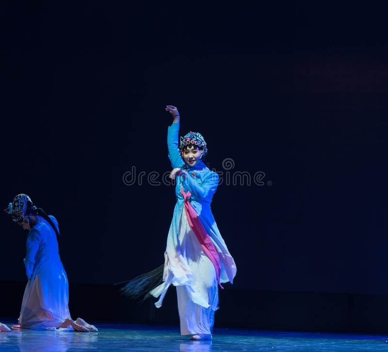 Ability to concentrate-Small Su three-Beijing Opera Dance royalty free stock photos