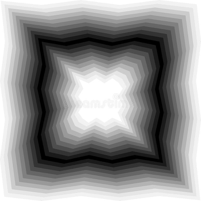 Abismo poligonal monocromático que riela de oscuridad para encender tonos Fondo abstracto geométrico Conveniente para la materia  stock de ilustración
