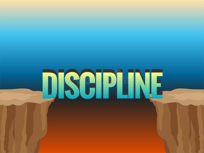 Abisso e parola DISCIPLINA come ponte illustrazione vettoriale