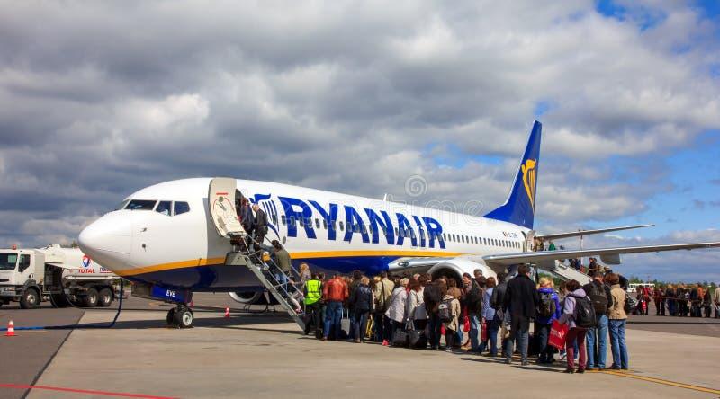 Abitacolo della compagnia ærea Ryanair fotografia stock