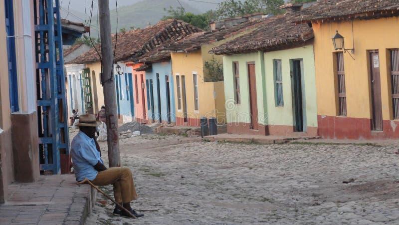Abitante di Trinidadin Cuba immagine stock