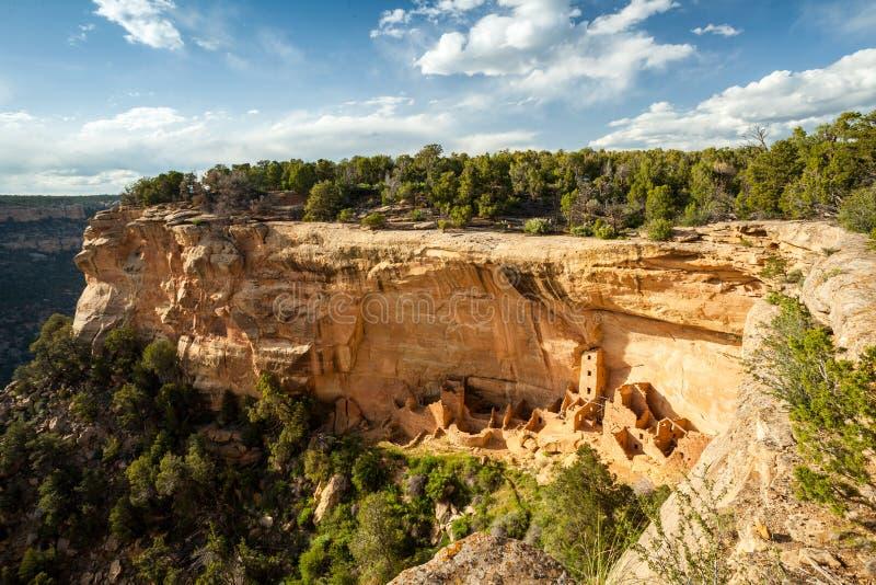 Abitazioni di scogliera in Mesa Verde National Parks, U.S.A. fotografia stock libera da diritti