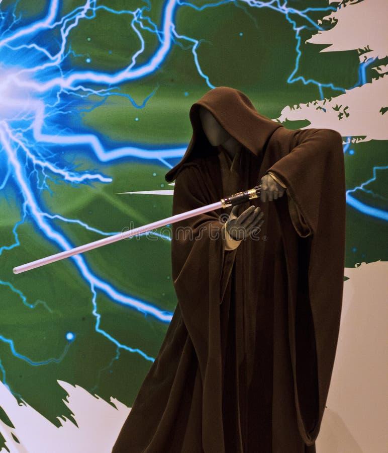 Abiti di Jedi della mostra di Starwars immagine stock libera da diritti