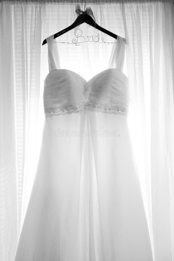 Abito di nozze fotografia stock