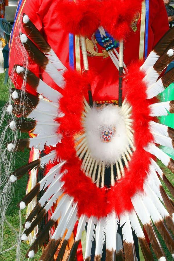 Abito tribale dell'nativo americano immagine stock