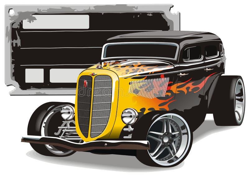 Abitudine GAZ-M1 Hotrod illustrazione di stock