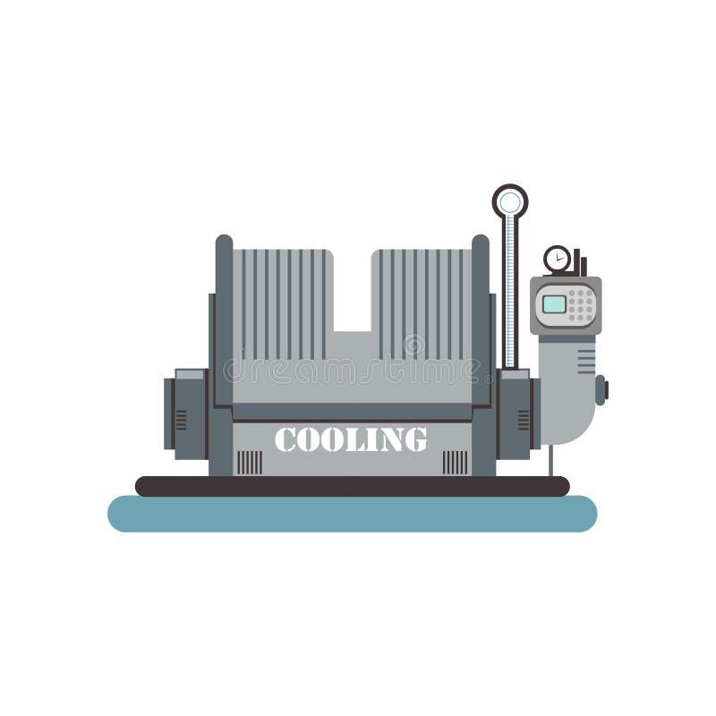 Abkühlen, Brauenproduktionsverfahren-Vektor Illustration auf einem weißen Hintergrund stock abbildung