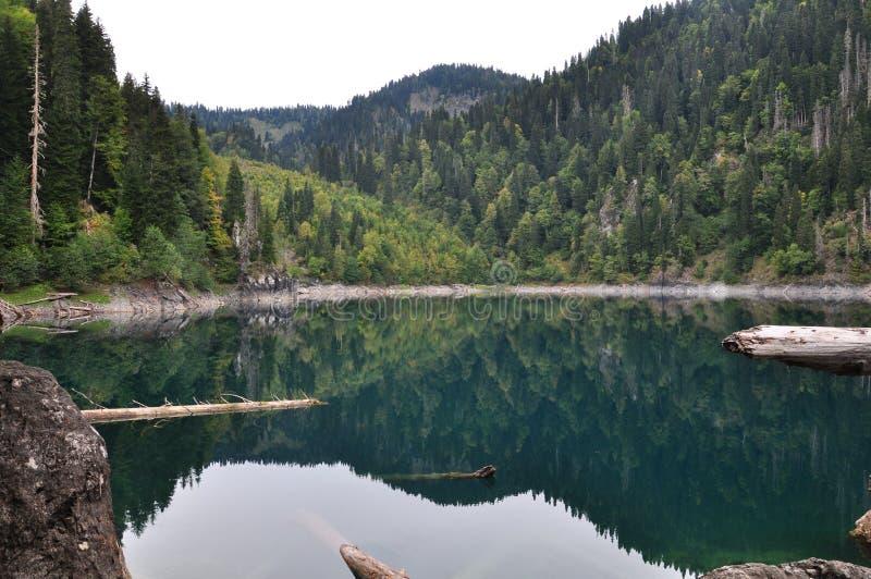 A Abkhásia, lago Ritsa imagens de stock