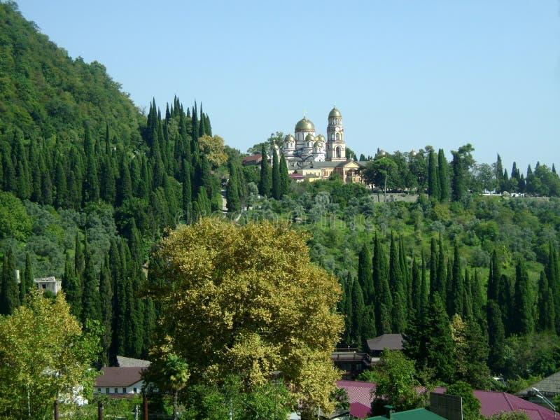 A Abkhásia, monastério novo de Athos fotografia de stock royalty free
