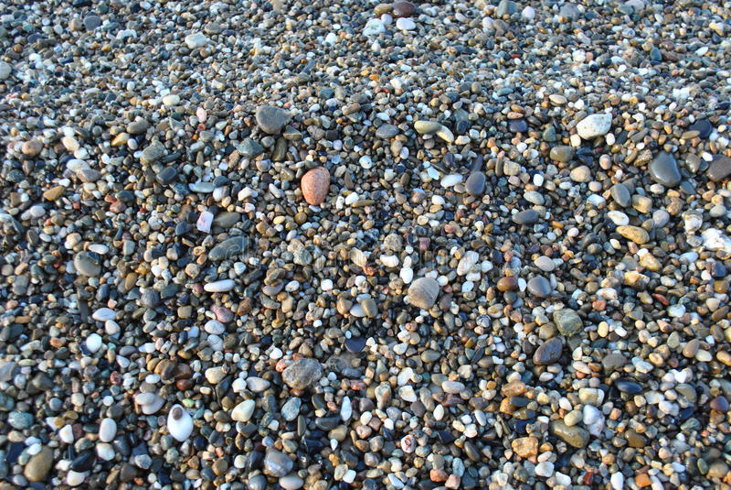 A Abkhásia O Mar Negro Seixos litorais fotografia de stock