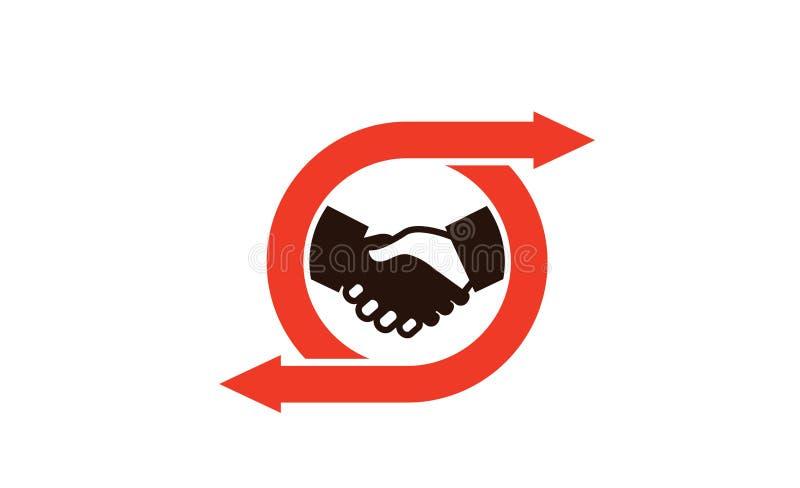 Abkommen-Anteil Logo Symbol Design Illustration lizenzfreie abbildung
